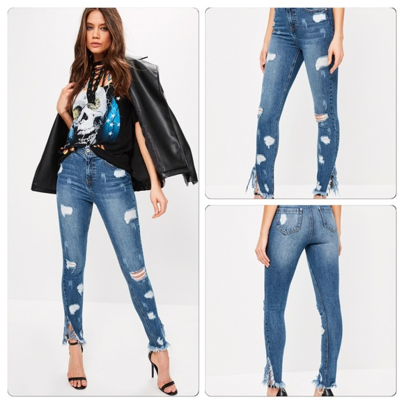 ec6d4fcc Distressed high waisted ripped jeans 2R NWT